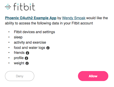 Fitbit Access Prompt